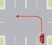 Поворот налево не с крайней левой полосы
