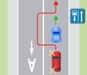 Выезд на полосу для маршрутных транспортных средств, предназначенную для встречного движения
