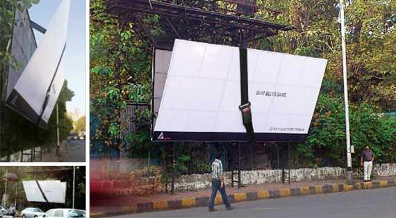 Наружная реклама о безопасности за рулем