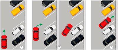 Схема под углом к дороге