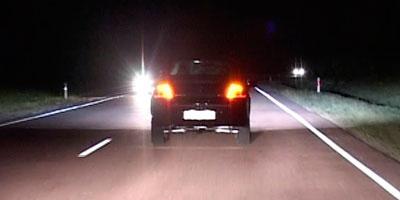 Сзади ночью на авто