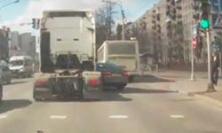 Дтп с грузовиком на перестроении