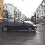 Разъезд на нерегулируемом перекрестке