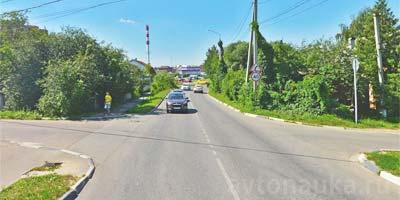 Переход дороги на перекрестке