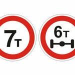 Вид знаков 3.11-3.12