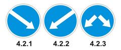 Знаки 4.2.1-4.2.3