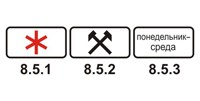 Табличка 8.5.1-8.5.3