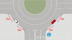 5 м до пересечения на кругу