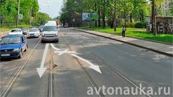Запрет на встречные трамвайные пути